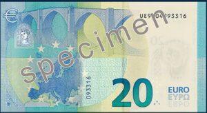 Neue 20 Euro-Schein Rückseite