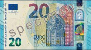Neue 20 Euro-Schein Vorderseite