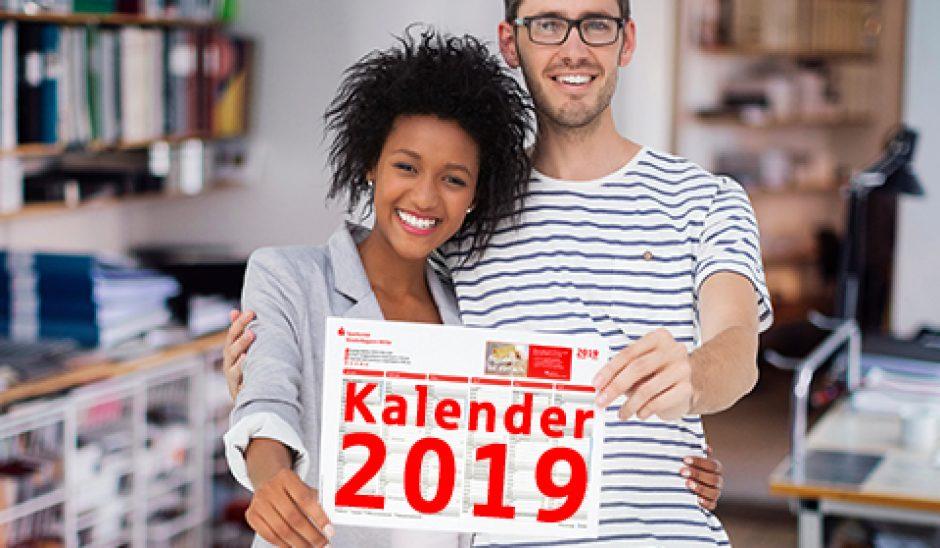 Alles im Blick- mit einem Blick: Sparkassen-Jahresplaner 2019