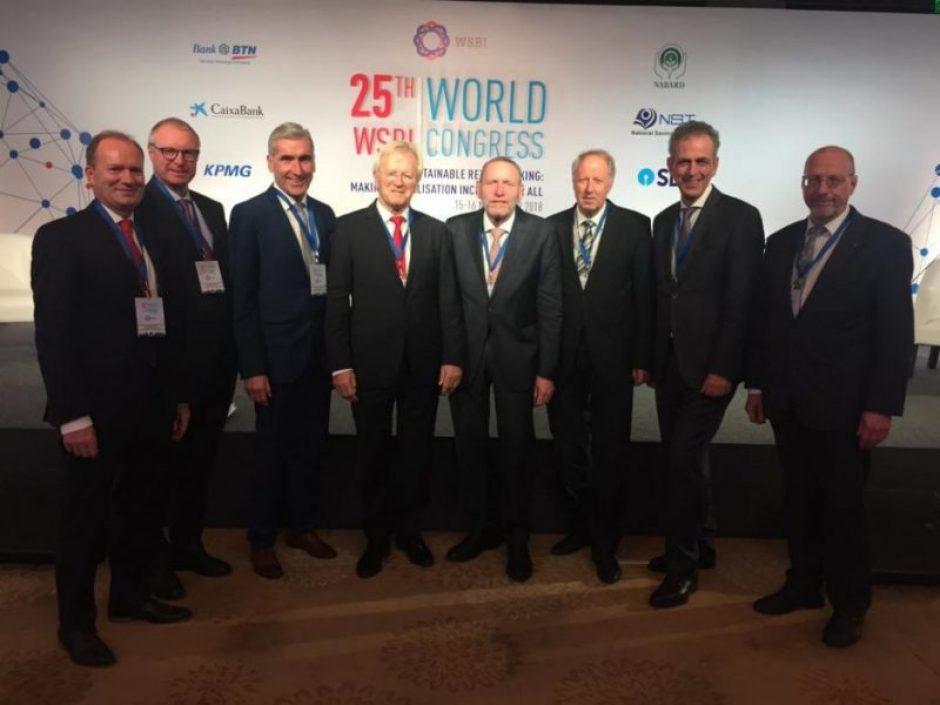 Weltkongress der Sparkassen und Retailbanken in New Delhi/Indien.